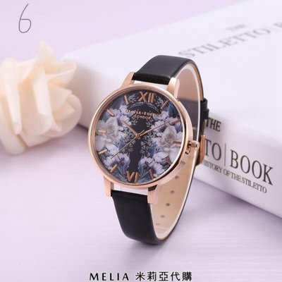 Melia 米莉亞代購 Olivia Burton OB 2018年新款 美國代購 手錶 石英錶 時尚腕錶 皮革錶帶