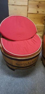 智利爱丽丝酒庄紅酒木桶改造凳子