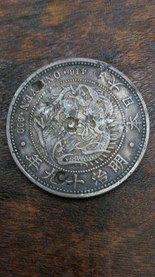 大草原典藏,日本明治19年銀幣