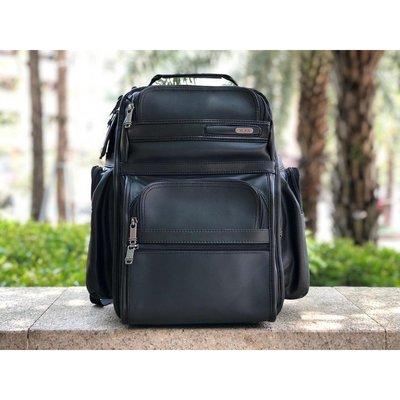 *蓝天小舖*TUMI 963578D4 全真皮男士商務旅行雙肩背包 大容量 筆記本隔層 多功能後背包手提包