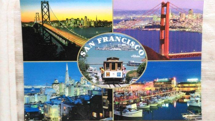 明信片   SAN  FRANCISCO  HIGHLIGHTS      【 可『 郵寄 』或『 超商取貨 』 】