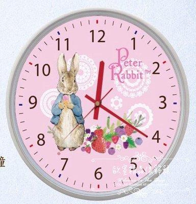 ~*歐室精品傢飾館*~Peter Rabbit 彼得兔 比得兔 鄉村風格 鐘 靜音 掛鐘 時鐘 草莓 居家 ~新款上市~