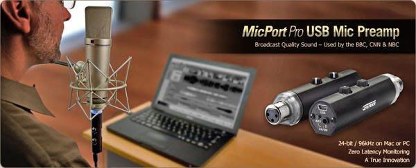 造韻樂器音響- JU-MUSIC - CEntrance MicPort Pro 迷你型 錄音介面 隨插即用 usb供電 可推電容麥克風