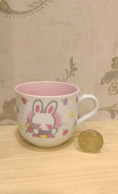 sanrio Cheery Chums凱莉兔馬克杯~日本製~早期1992絕版商品~收藏出清