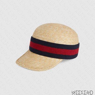 【WEEKEND】 GUCCI Web 織帶 編織 鴨舌帽 帽子 576249