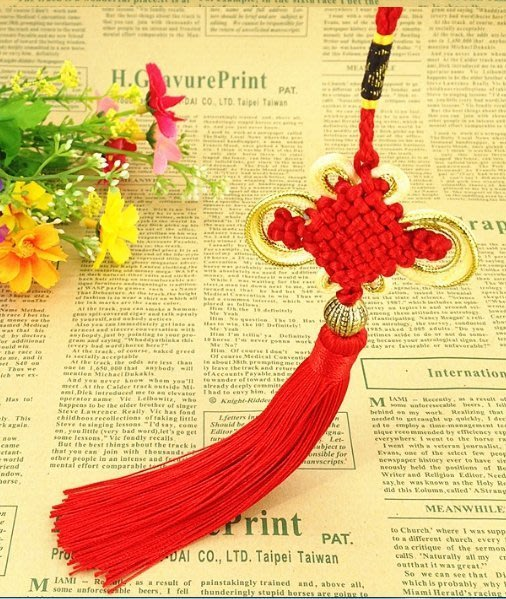 【螢螢傢飾】【艷紅色,銅珠中國結飾】,流蘇穗子,多色可選,縫紉配件,汽車吊飾,復古裝飾,包包配飾,拉鍊把手。