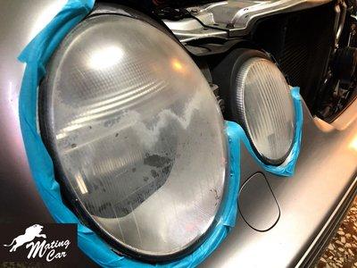 W210 W211 W212 大燈拋光 大燈鍍膜 大燈修復 大燈氧化