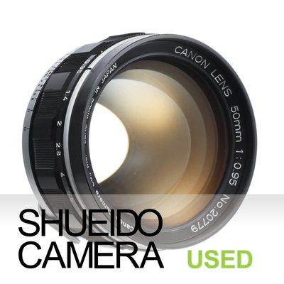 集英堂写真機【3個月保固】中古極上品 / CANON 50mm F0.95 鏡頭 夢幻之眼 L39 接環 14957