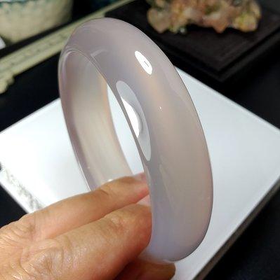 [友克鑫礦業]免運!11約19手圍正天然色水靈潤澤放光完美原色紫玉髓手鐲/手環