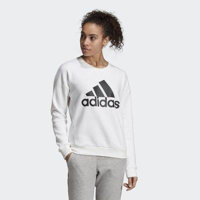 》P.S 》ADIDAS MH BOS CREW 大學T 白色 大LOGO 衛衣 基本款 女款 DX7965