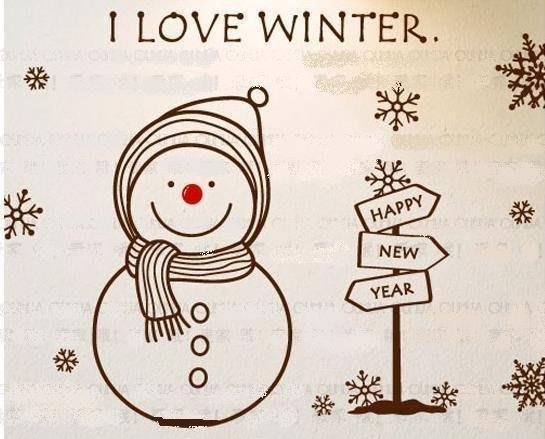 小妮子的家@聖誕冬天 壁貼/牆貼/玻璃貼/磁磚貼/汽車貼/家具貼