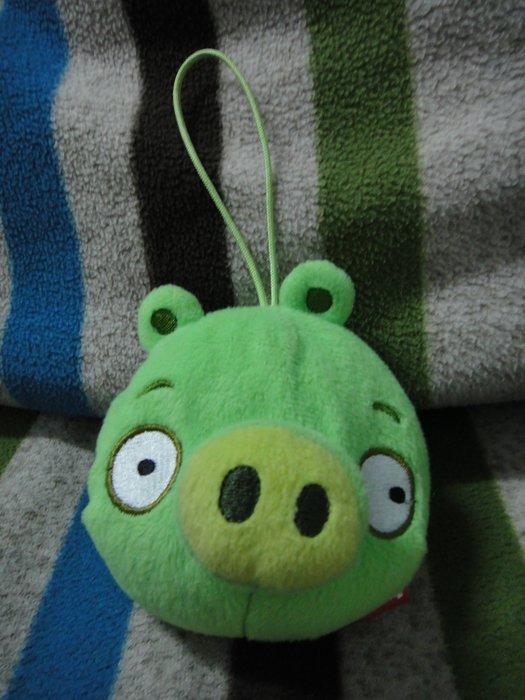 AngryBirds 憤怒鳥(綠色小豬) 多功能絨毛包 鑰匙圈 零錢包