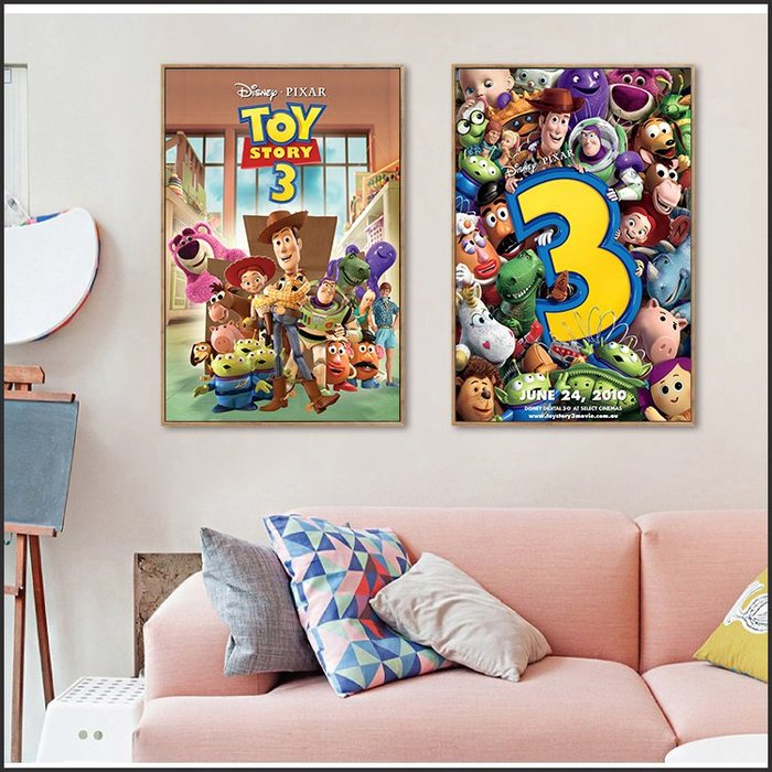 日本製油畫布 電影海報 玩具總動員 Toy Story 掛畫 嵌框畫 @Movie PoP 賣場多款海報~