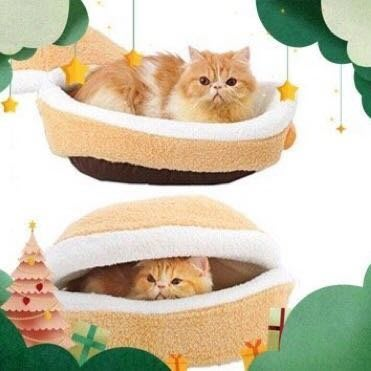 烘焙貓❤️特價❤️小漢堡 貓狗窩-溫暖馬卡龍睡床 睡窩 睡床 犬貓適用 貝殼窩 貓睡窩 狗睡窩 睡床