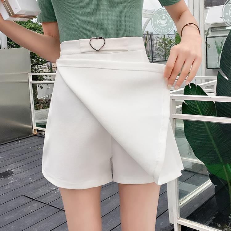 夏季新款韓版百搭高腰顯瘦雪紡褲裙子A字裙包臀半身裙女 zr139