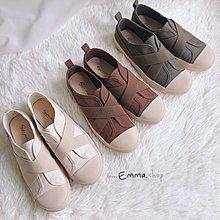 EmmaShop艾購物-正韓韓鞋IG繃帶帆布便鞋/休閒鞋/平底鞋