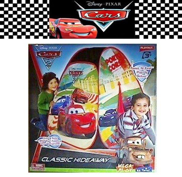 出口美國CARS2閃電麥坤賽車款小型單人遊戲帳篷(3歲以上適用)小男生的最愛~~