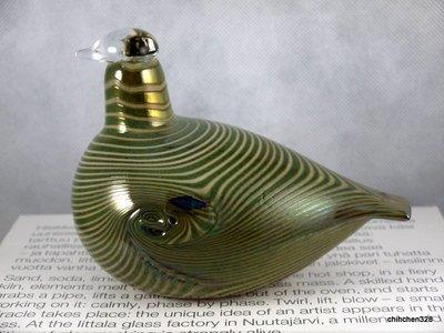 芬蘭國寶 Oiva Toikka 大師Iittala 手工玻璃鳥 1981 Long-Tailed Duck 長尾鴨
