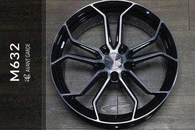 【宏程輪胎】AG M632 19吋旋壓鋁圈 黑底 5/114.3