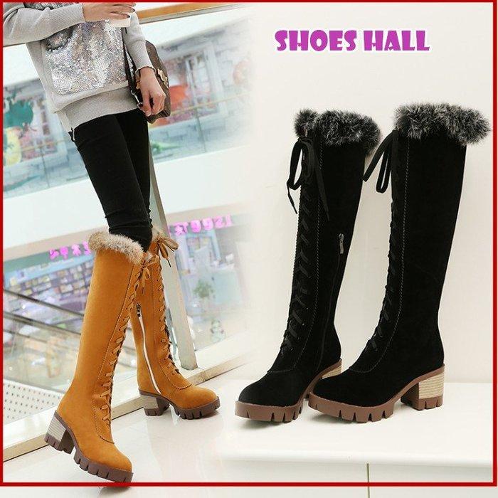 鞋館Shoes hall【S17501】~嚴選帥氣綁帶機車長靴 ~ 3色(可訂做大尺碼)