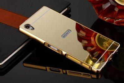 丁丁 Sony 索尼 X XZ2 Mini Compact M5 M4 奢華電鍍鏡面推拉式金屬邊框手機殼 防摔手機保護套