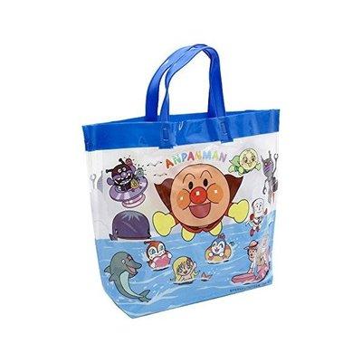 代購現貨  日本麵包超人防水海灘袋藍色...