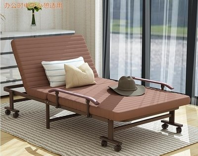 折疊床單人床家用午休床雙人床辦公室躺椅午睡床成人1.2米簡易床CY