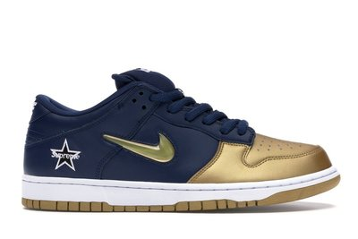 「Rush Kingdom」代購 Supreme Nike SB Dunk Low Jewel Swoosh 金/藍