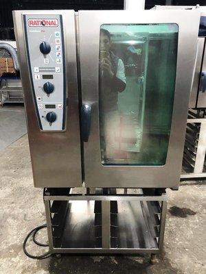 中古RATIONAL萬能蒸烤箱 CMP 101  機械式10盤三相380V