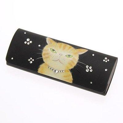 日本手繪貓咪眼镜盒(最後兩張是實拍)