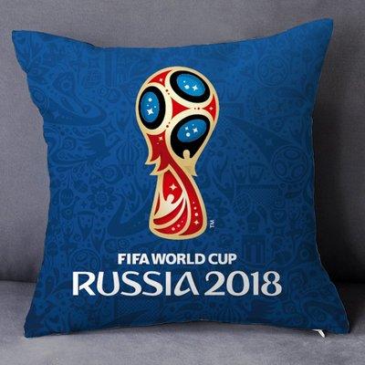爆熱款--2018世界杯抱枕禮品大力神杯裝飾海報周邊球迷定制紀念品俄羅斯#明星抱枕#創意#個性#毛絨