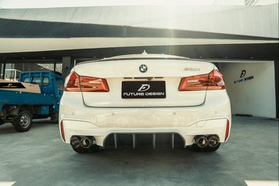 【政銓企業有限公司】BMW G30 520 530 540 550 改 M5 FD 抽真空 高品質 乾碳 卡夢 後下巴