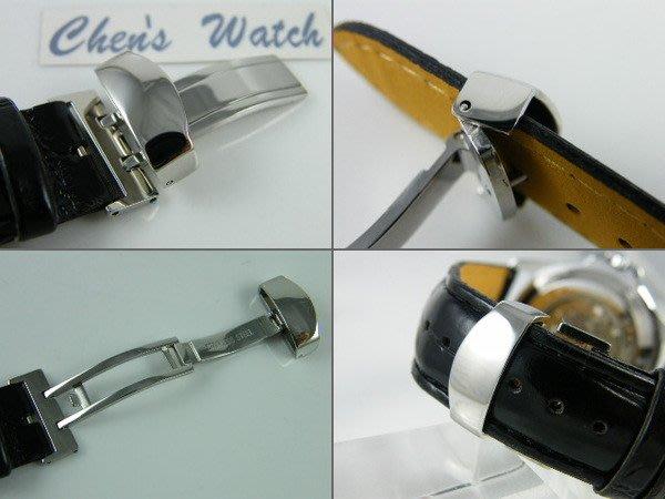 【錶帶家】 各廠如Fortis,oris,GP,omega等皮帶錶均可代用之折疊扣非蝴蝶扣12mm~22mm24mm