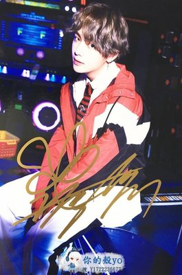 BTS 防彈少年團 金泰亨/V 親筆簽名宣傳照D版 精美包裝#3632