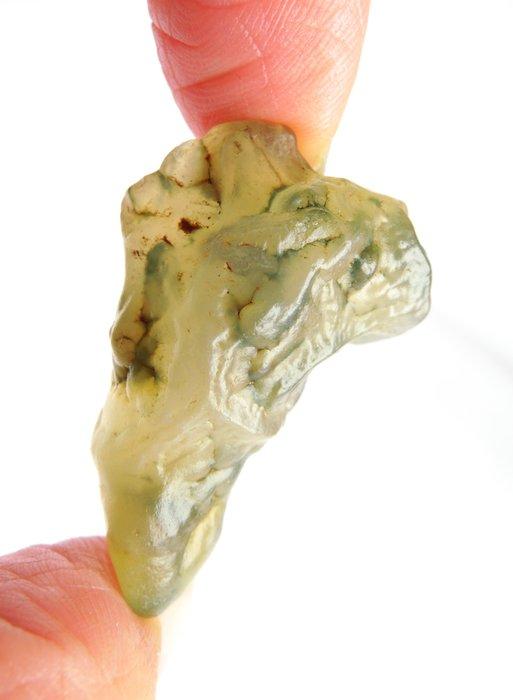 天然戈壁狼牙形玉綠筋脈戈壁瑪瑙單品