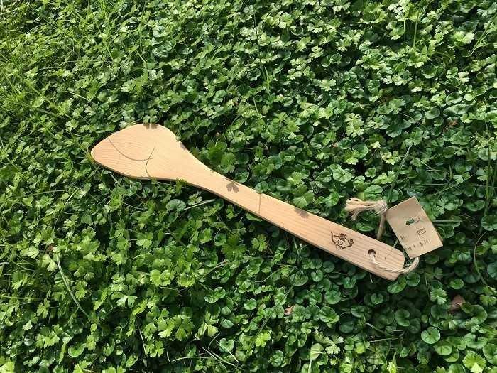 【光合作用】QC館 台灣檜木煎匙 天然無上漆 100%台灣製造 愛地球 eco 舊木、漂流木,重生再利用 抗菌、防霉