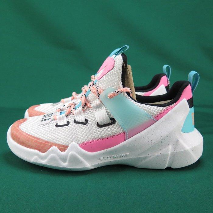 【iSport愛運動】Skechers DLT A TRUE SUMMER休閒鞋 12944WPKB女款 粉彩橘X天空藍