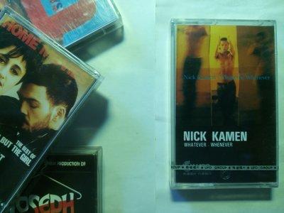(全新未拆封) 模特兒出身的 Nick Kamen 1992 最後一張專輯卡帶,錄音帶。照片為訪台專訪後簽名,非商品