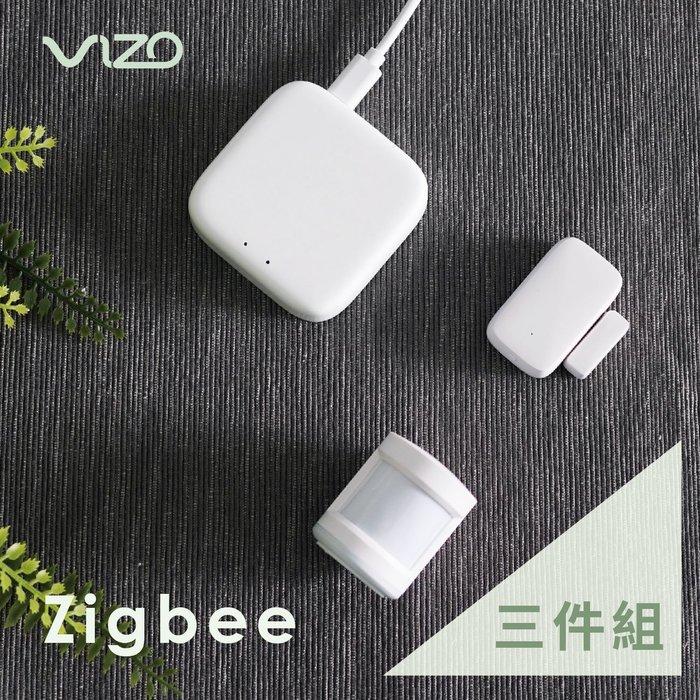 【超值組1+1】VIZO Zigbee網關+人體+門窗感應器