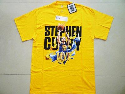 【Curry專區】NBA官網限定 Stephen Curry 2015 MVP 短T 黃 M/L號現貨 UA SC30