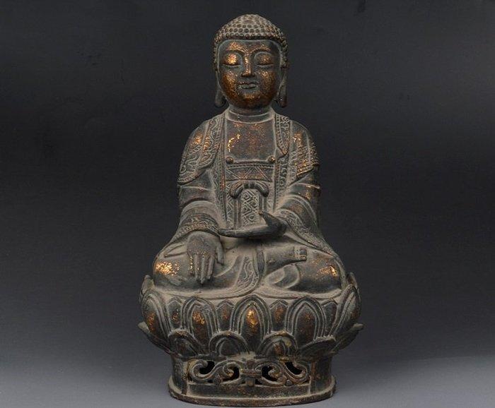 【凡了居】仿古鎏金 釋迦摩尼銅像 如來佛像擺件 辟邪化煞 華鑫銅238