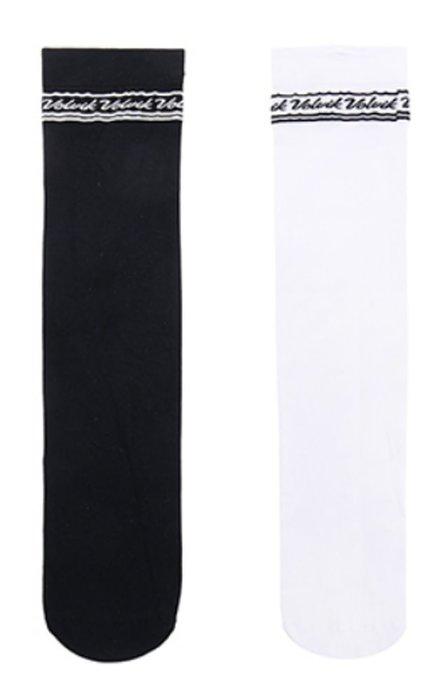 藍鯨高爾夫 Volvik 女長筒襪#VLSCJ208(黑色,白色)