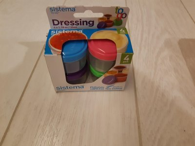 Sistema 4 Pack Dressing Condiments To Go Containers 35ml