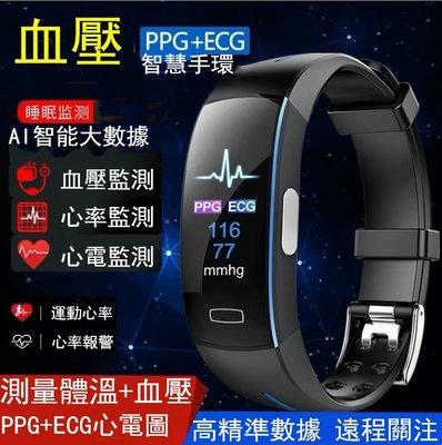 ECG+PPG心電圖(醫療級)智慧手環 24h連續監測 (體溫/血壓/心率) APP顯示數據 P3A繁體智慧手錶