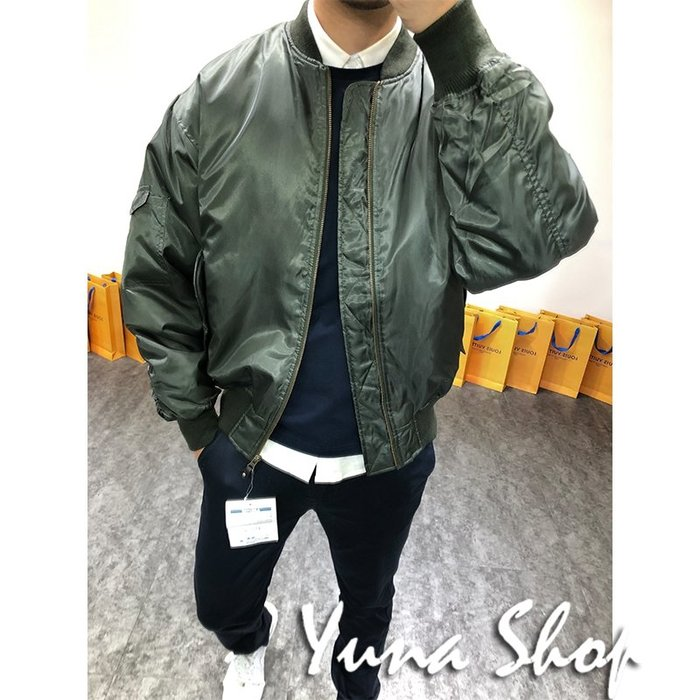☆YUNA SHOP☆【B-81929】男裝 秋季新款經典MA1風格寬鬆飛行員外套夾克/兩色☆特價 兩件免運