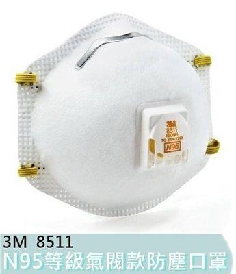 【花蓮源利】3M N95 等級 8511 杯型口罩 頭戴式 含舒適款呼氣閥 防粉塵 PM2.5 過濾微細粉塵 霾害 霧霾 花蓮縣
