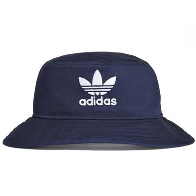 【AYW】ADIDAS ORIGINALS BUCKET HAT 大LOGO 愛迪達 三葉草 深藍 經典 刺繡 漁夫帽