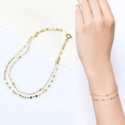 *misaki*の日本Jewelry純代購【日本網路飾品】【2連式】 純18K黄K金 手鍊【東京 本店】