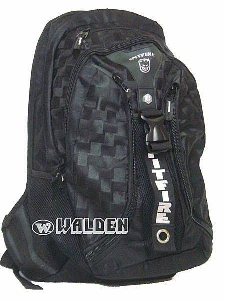 《葳爾登》Spir Fire護脊功能後背包【護腰帶】電腦包運動背包公事包護肩帶登山包2326黑