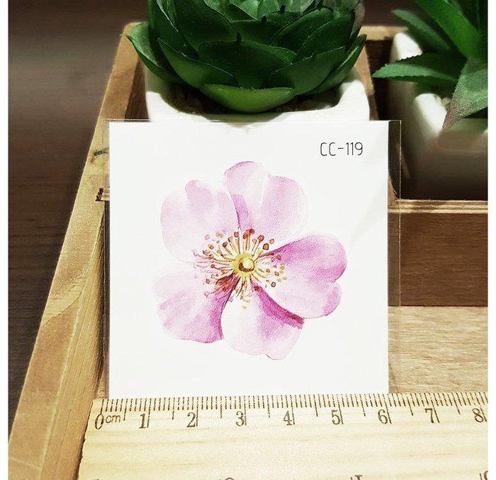 【萌古屋】花朵單圖CC-119 - 防水紋身貼紙刺青貼紙K38